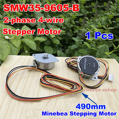 Minebea 35mm Round Stepper Motor Large Torque 2-phase 4-wire For Printer Scanner