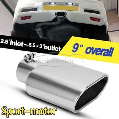 "For 2"" 2.25"" 2.5"" 2.75"" 3"" Inlet 3.5"" Outlet 6"" Long Rolled Storty Exhaust Tip"