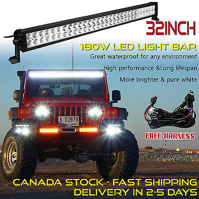 Off Road 32 inch LED Light Bar Truck Driving Boat Fog Ford Jeep UTE SUV 4x4 30