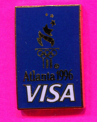 1996 Olympic Visa Official Sponsor Pin Blue Torch Pin