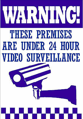 Qty 3 Warning Signs  24 Hour Video Surveillance Security Sign - Cctv Camera Sign