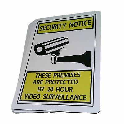 SECURITY NOTICE 24 HOUR VIDEO SURVEILLANCE SIGN Aluminium outdoor 315mm x 220mm