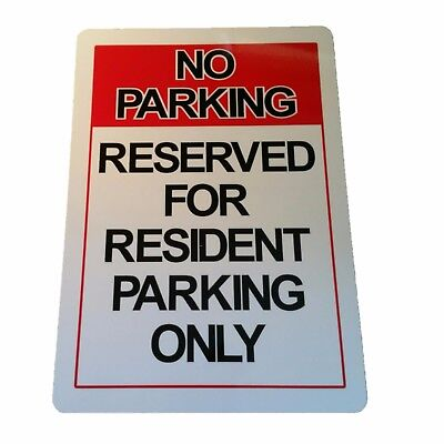NO PARKING RESIDENT PARKING ONLY sign Aluminium outdoor 315mm x 220mm
