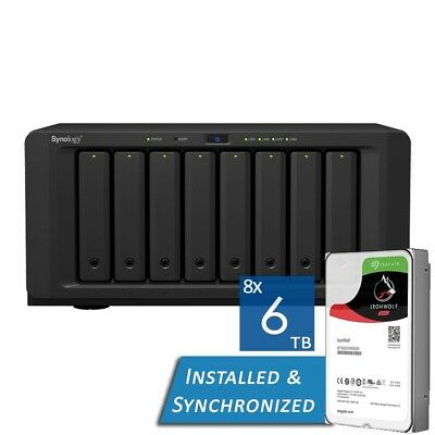 Synology DiskStation DS1817+ 8GB 8 Bays NAS + 48TB 8x Seagate 6TB ST6000VN0041