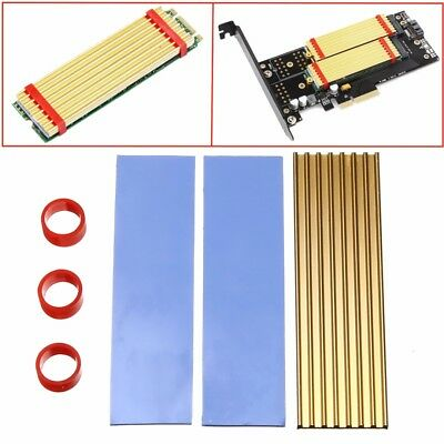 M.2 NGFF 2280 Aluminum Cooling Heat Sink Thermal Pad for SM961 960PRO NVMe SSD