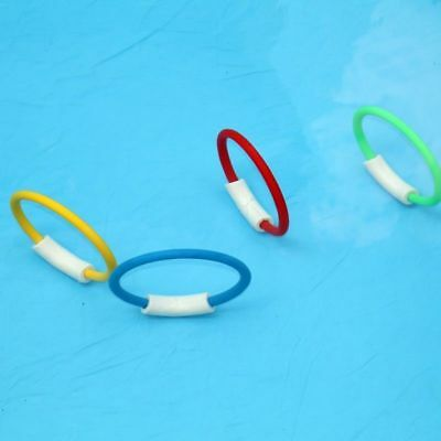 4x Underwater Dive Rings Swimming Diving Sinking Pool Toy Games Fun Children