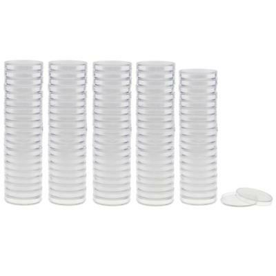 100pcs 38mm Plastic Clear Round Coin Case Capsule Storage Holder Containers