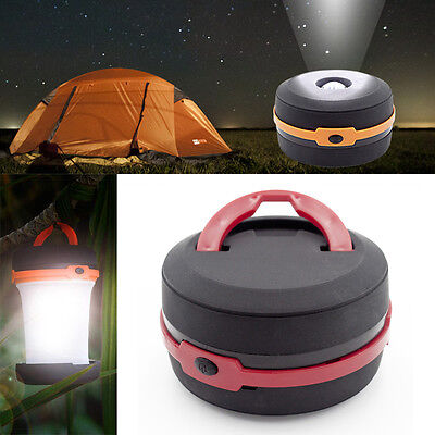 3W Red&Black Camping Light Collapsible  LED Flashlight Fishing Portable Lamp