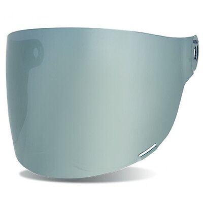 Genuine Bell Bullitt Flat Silver Mirror Visor Shield | Black Tabs