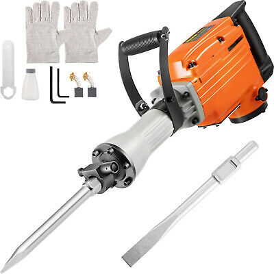 Demolition Hammer Concrete Breaker Jack hammer Drill Electric 1500W 2-Chisels
