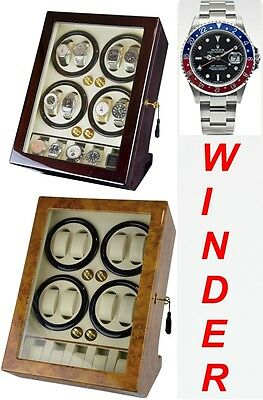 Luxury Display Automatic Watch Winder For 8 Watches+5 model: BisQuadra-5MC/BW
