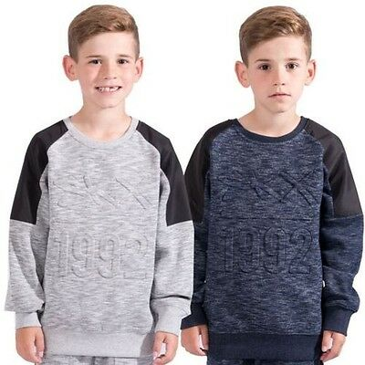 Skechers Boys Hoodie Sweats Jumper Kids Sweatshirts Pullover Top Size 8-13 Years