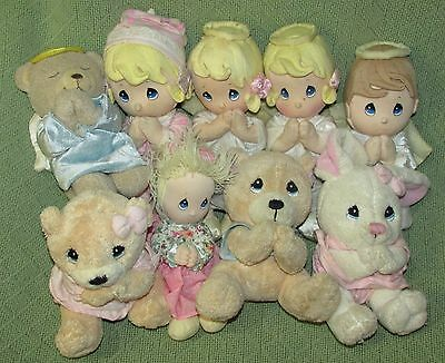 Precious Moments PRAYER Plush Dolls & Bears LOT of 9 Now I Lay Me Down To Sleep