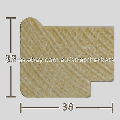 32mm Stretcher Bar Profile - 3.0m lengths - 8 pieces (24 metres)