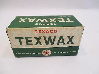 Vintage Texaco Texwax OLD STOCK Pure Refined Paraffine For House Hold Use