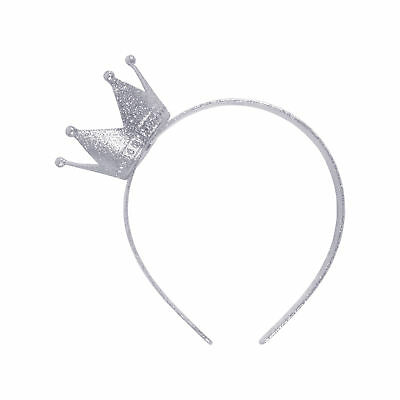 FANCY DRESS Crown Headband Silver