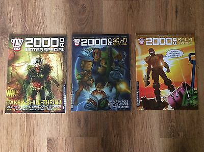 2000ad Three Diff Specials - 2014 - 2016 Mint Condition