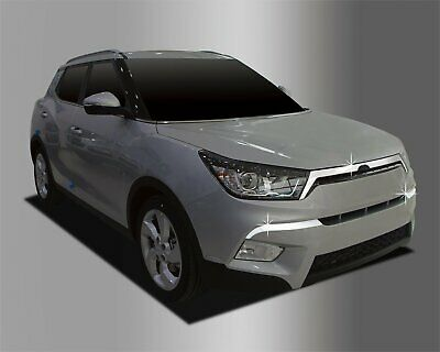 For Ssangyong Tivoli 2014+ Chrome Front Bumper and Grille Trim Set (3 Pieces)