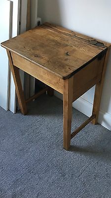 Antique Vintage Old School Desk - Industrial