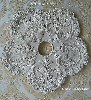 """Plaster Ceiling Rose Large 670 mm / 26.5 """"  CR69   Handcrafted"""