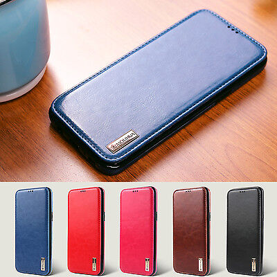 For Samsung Galaxy S8+ Plus S8 Shockproof Magnetic Flip Card Slot Leather Case