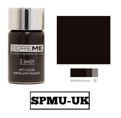 Microblading Eyebrow Pigment - Doreme 2 Shot 806 Black Brown, SPMU-UK INK