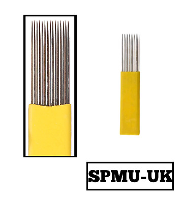 SPMU DOUBLE ROW MAG Microblading Needles - Permanent Make up Brow Blade