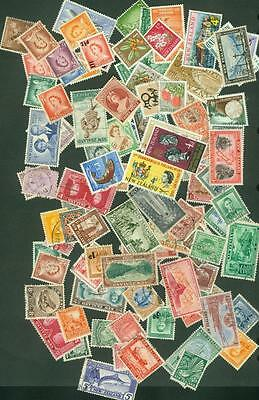 New Zealand. 100 Pre Decimal Stamps All different. Used.