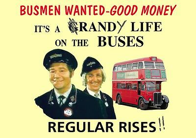 On The Buses Recruitment  POSTER As Seen in TV Show