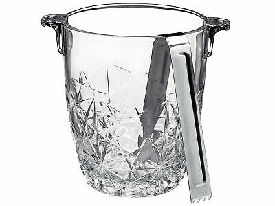 BORMIOLI ROCCO Glass Ice Bucket With Tongs Maze Kitchen Accessories