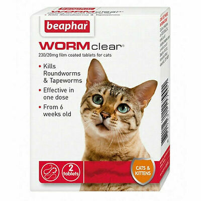 Beaphar WORMclear for Cats Worming Tablets x 2