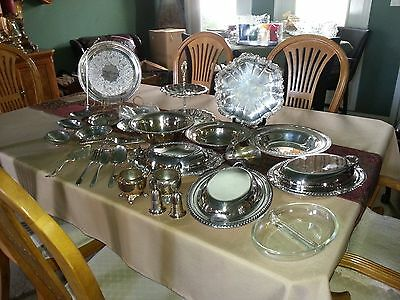 Vintage Silverplate Wedding/Banquet/Catering Mixed Lot 32 pcs