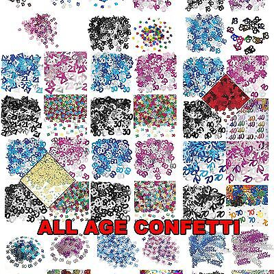 Birthday Confetti Age Party Table Decoration Sprinkles Celebration Glitz