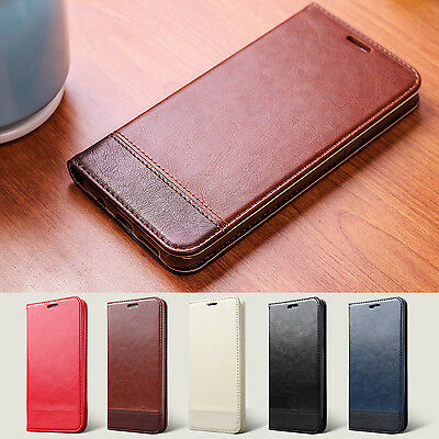 Magnetic Flip Leather Case Card Holder Wallet Cover Slim For iPhone 6s 7 8 Plus