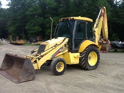New Holland LB110 Backhoe Loader Cab/Air Tractor Dozer