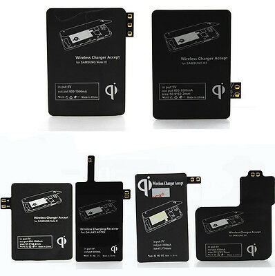 Qi Wireless Charger Charging Receiver Kit For Samsung Galaxy S3/S4/S5 Note 2/3/4
