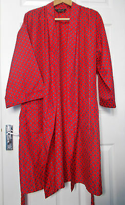 Vintage M&S 1980s St Michael Dressing Gown/Smoking Jacket Large Tricel