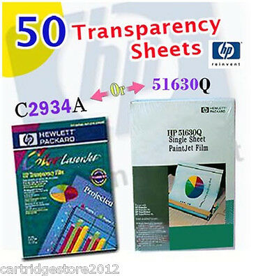 50 HP Transparency Film/Sheets * [C2934A]  OR  [51630Q] * Genuine *Office Supply