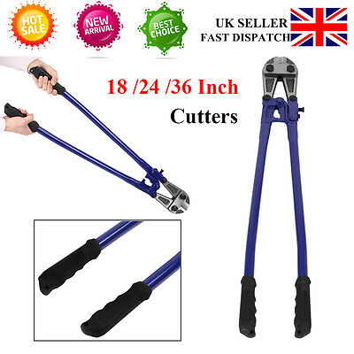 "Heavy Duty 36"" 880Mm Carbon Steel Bolt Cutter Wire Cable Cutters Croppers Blue S"