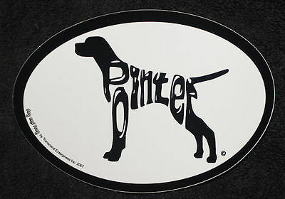 Pointer Oval Euro Style Car Dog Decal Sticker