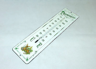Seltenes Emaille Thermometer um 1900
