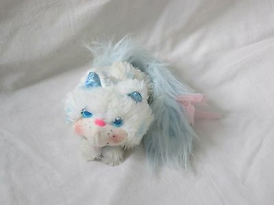 1986 Kenner Furrever Friends Plush Kitty Cat Blue and White