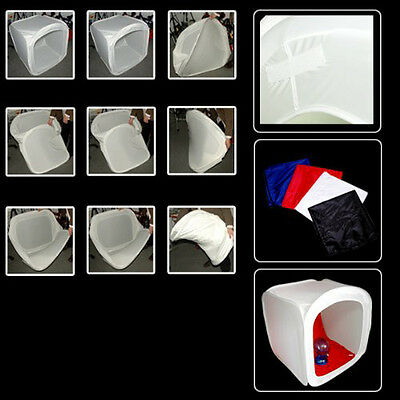 80CM TENT LIGHT CUBE PHOTO STUDIO VIDEO soft box+4x PowerPoint BT P4U4