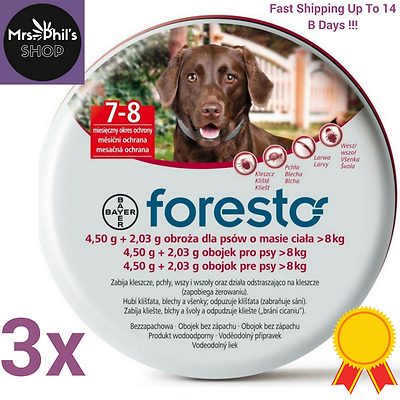 3PACK Seresto/Foresto Bayer 70cm Flea Tick Collar For Large Dogs Fast Shipping