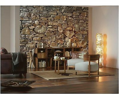 Wallpaper 8 Panel Mural Stone Pattern Home Decor Paste Included Wall Paper New