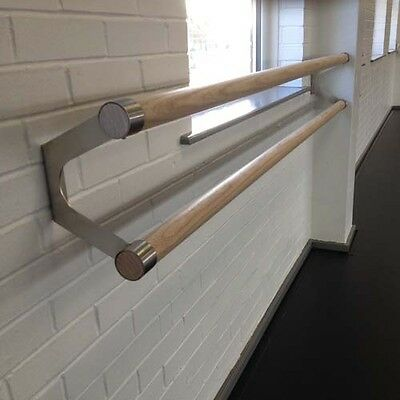 Double Wall Mounted Ballet Barre