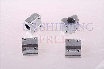 4PCS Ball Bearing SCS8UU 8mm Linear Pillow Block Linear Slides Unit for CNC