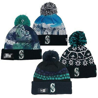 4f00d4fff39 ... where to buy new era mlb seattle mariners knit pom top cuffed beanie hat  pick your ...