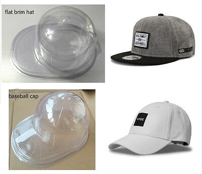 3x Baseball Cap Hat Display Case Plastic Clear Storage Holder Protect Travel New