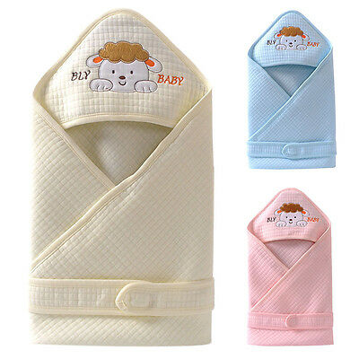 Baby Swaddle Newborn Hooded Sleeping Bag Infant Warm Crib Swaddling Blanket Wrap